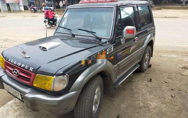 Bán xe Hyundai Galloper năm sản xuất 2001, màu đen, xe nhập 5