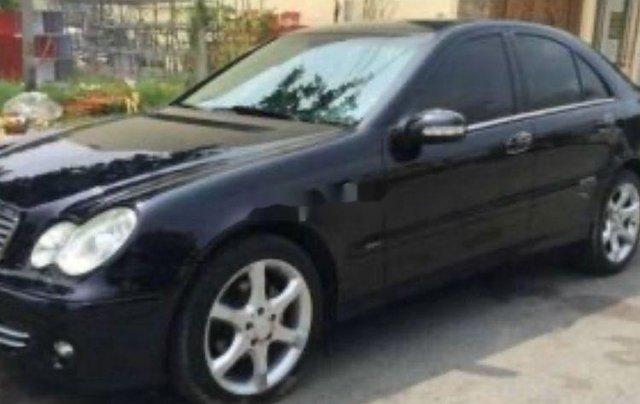 Xe Mercedes C200 sản xuất năm 2005, màu đen, xe nhập0