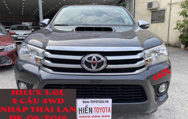 Toyota Hilux 4WD, 2 cầu, số sàn, nhập Thái Lan, ĐK 06/20160