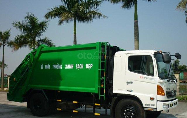 Bán xe cuốn ép rác Hino FG 14 khối hàng sẵn giao ngay0