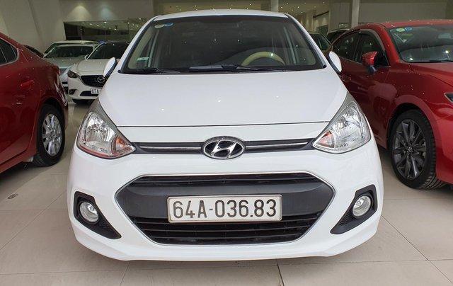 Bán xe Hyundai i10 năm 2016, nhập Ấn Độ, màu trắng, số sàn, lăn bánh 68000km, xe đẹp, bao test hãng0