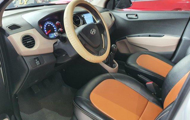 Bán xe Hyundai i10 năm 2016, nhập Ấn Độ, màu trắng, số sàn, lăn bánh 68000km, xe đẹp, bao test hãng6