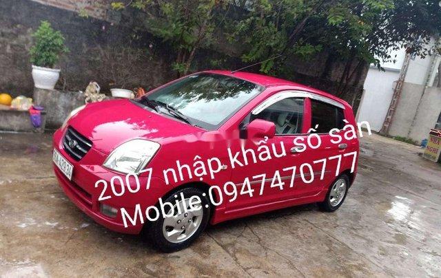 Cần bán Kia Morning năm sản xuất 2007, màu đỏ, xe nhập0