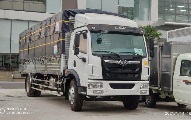 Bán xe tải Faw 8,7 tấn thùng dài 8,2 mét chuyển chở pallet0