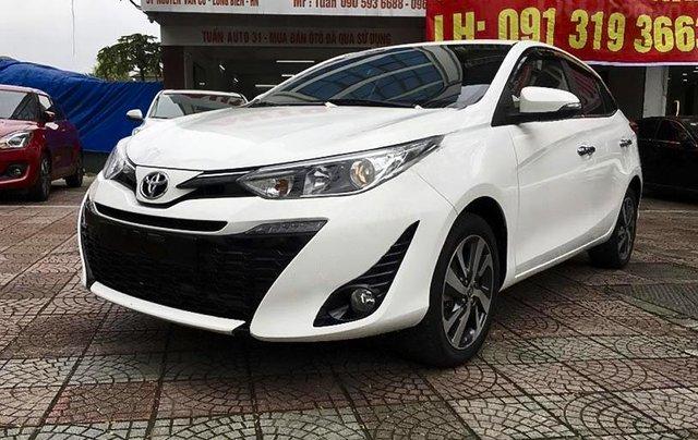 Bán Toyota Yaris 1.5G năm sản xuất 2019, màu trắng, nhập khẩu0