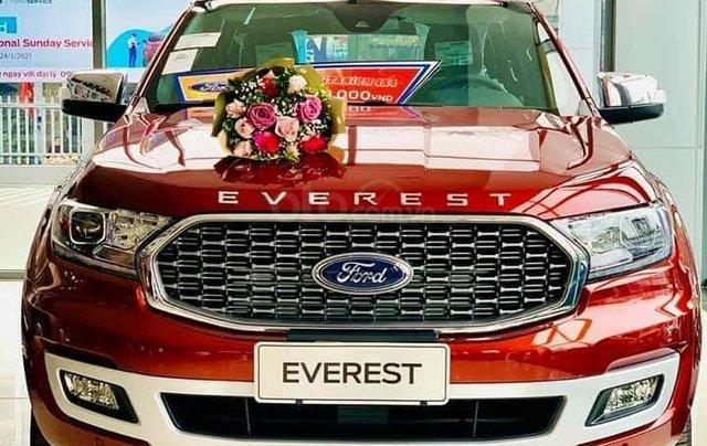 Ford Everest Titanium 2021, xe có sẵn, đủ màu, trả trước 222 triệu