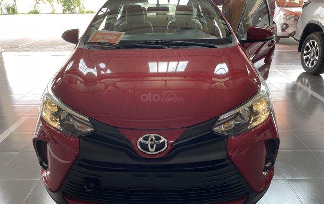 Bán Toyota Vios 1.5E CVT năm sản xuất 2021, màu đỏ giao ngay0