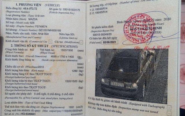 Cần bán lại xe Mazda 626 sản xuất 1995, nhập khẩu nguyên chiếc10