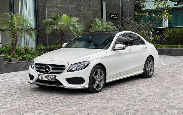 Bán xe Mercedes C class năm sản xuất 2016, màu trắng số tự động4