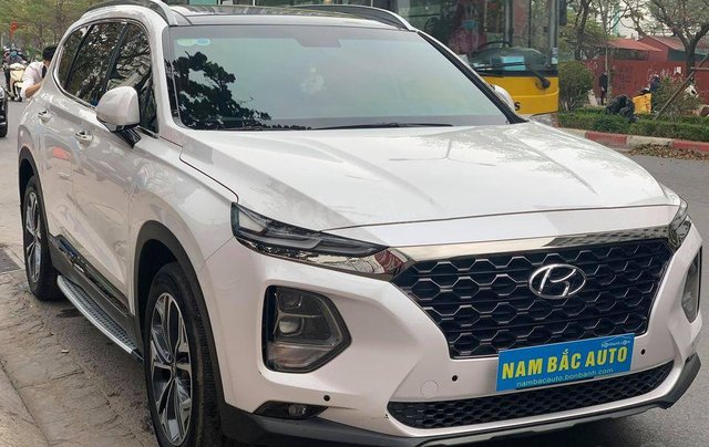 Bán Hyundai Santa Fe đời 2019, màu trắng giá cạnh tranh0