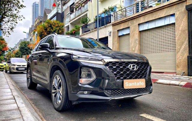 Bán Hyundai Santa Fe sản xuất 2019, màu đen số tự động0