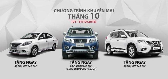 Nissan Việt Nam tung khuyến mại cho khách mua X-Trail, Sunny và Navara tháng 10/2018