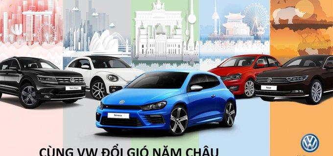 Volkswagen Việt Nam tặng gói du lịch 'Năm châu' cho khách hàng mua xe mới