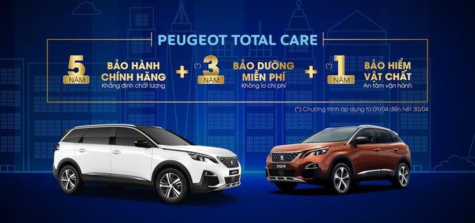 Xe Peugeot Việt Nam tiếp tục ưu đãi bảo dưỡng hấp dẫn trong tháng 4