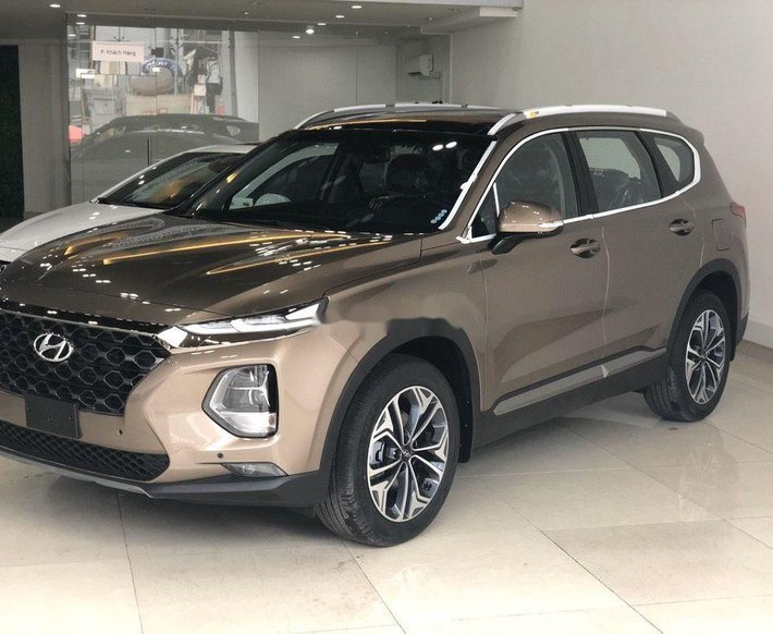 Bán xe Hyundai Santa Fe đời 2019, màu nâu0