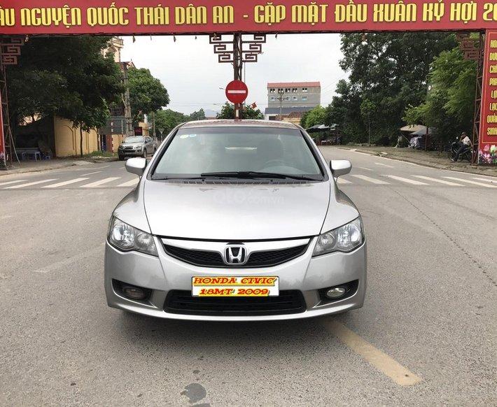 Bán Honda Civic 1.8MT đời 2009, màu xám (ghi), form mới 2010, công nhận mới thật0