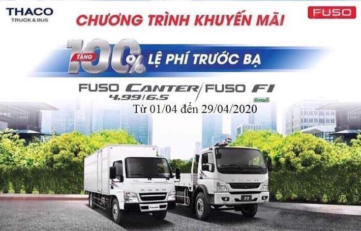 Xe Mitsubitshi Fuso Canter khuyến mại 100% phí trước bạ0