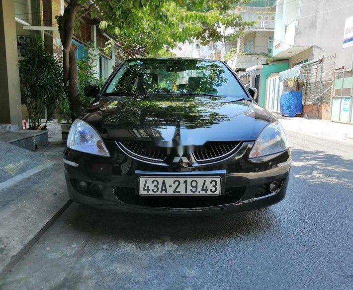 Cần bán gấp Mitsubishi Lancer GLX đời 2004, màu đen, xe nhập  0