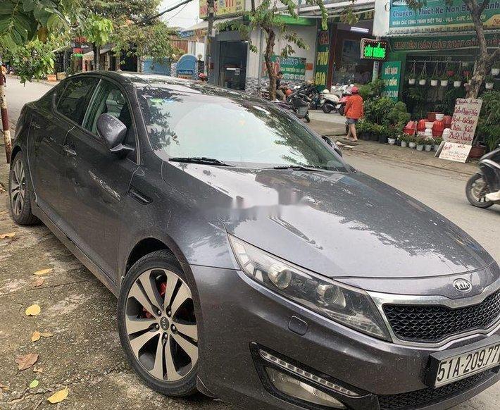 Cần bán lại xe Kia Optima 2011, màu xám, nhập khẩu nguyên chiếc số tự động giá cạnh tranh0