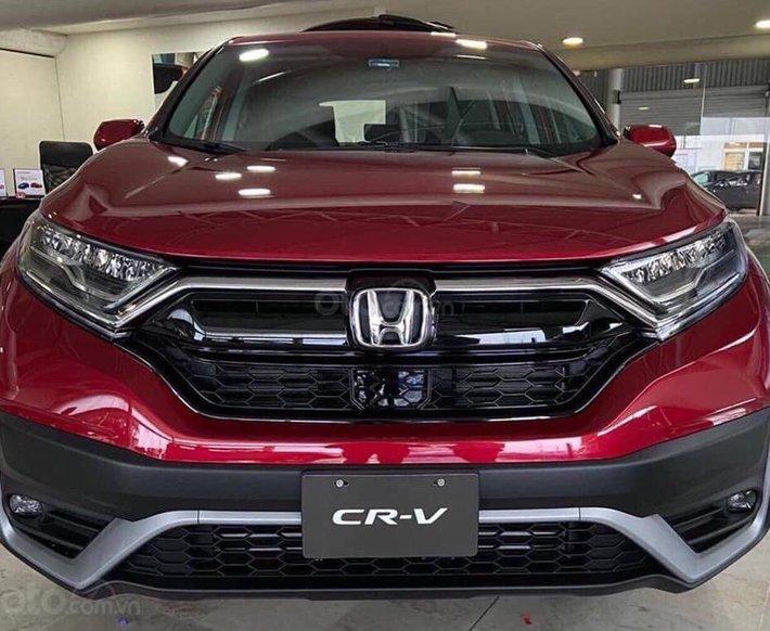 Honda CRV 2021 tại Đồng Nai bản L màu đỏ, ưu đãi khủng, giao ngay, trả trước từ 300tr nhận xe0