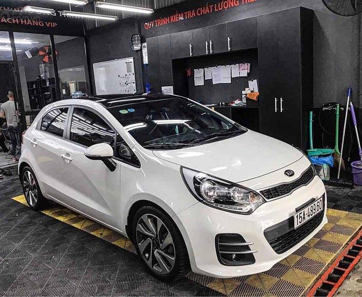 Bán ô tô Kia Rio đời 2015, màu trắng, nhập khẩu nguyên chiếc  0