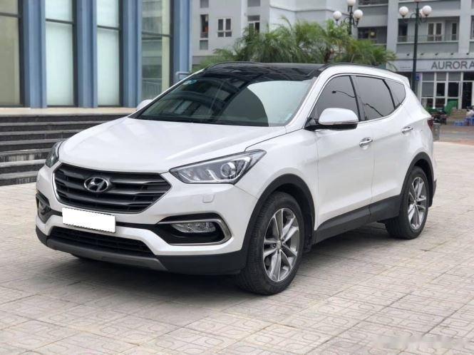 Bán Hyundai Santa Fe đời 2019, màu trắng, bản full option0