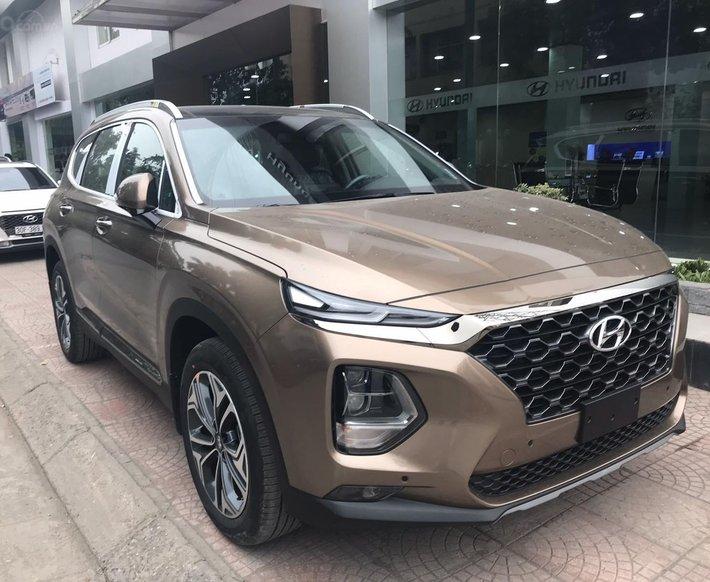 Hyundai Santa Fe đủ màu giảm ngay - siêu khuyến mãi khủng - Giảm ngay 50% thuế trước bạ0