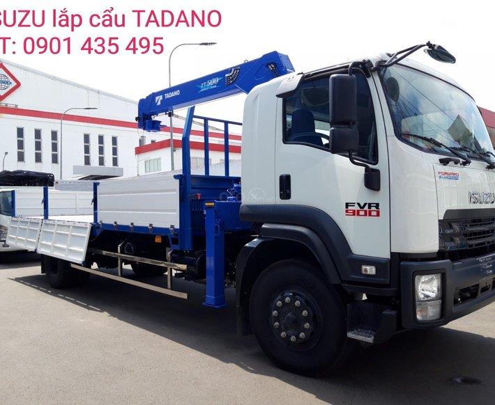 Isuzu FVR900 thùng lửng lắp cẩu Tadano, giao xe ngay, giá tốt, hỗ trợ vay ngân hàng thủ tục nhanh gọn0