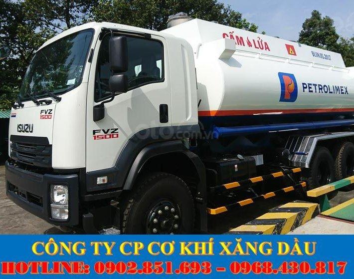 Bán xe bồn Isuzu 18 khối chở xăng dầu, xe bồn Isuzu 3 chân giá tốt giao ngay0