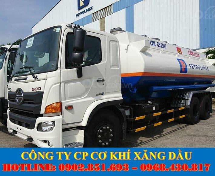 Bán xe bồn Hino 18 khối chở xăng dầu, xe bồn Hino 3 chân chở xăng dầu giá tốt0