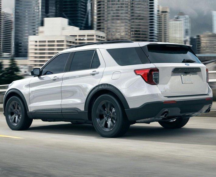Ford Explorer 2021 màu trắng mới nhất, nhận cọc xe ngay trong tháng 3 để nhận ưu đãi0