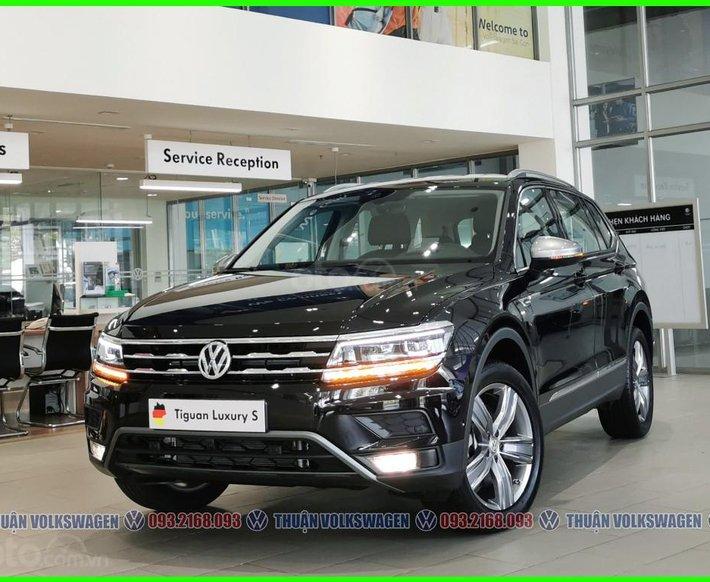 [Volkswagen Vũng Tàu ]Tiguan Luxury S 2021 màu đen, động cơ 2.0 Turbo, SUV 7 chỗ gầm cao cho gia đình, dẫn động 4motion0