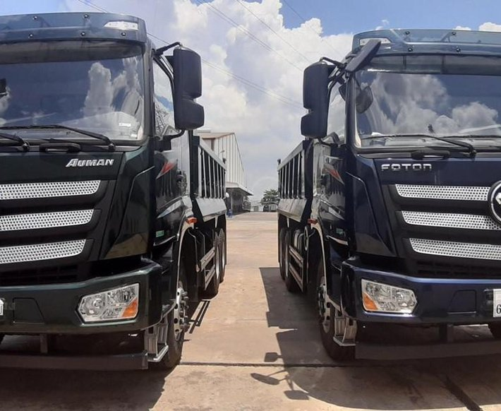 Thaco Phan Thiết - Bình Thuận: Cần bán xe xe ben Thaco Auman D240 năm 20211