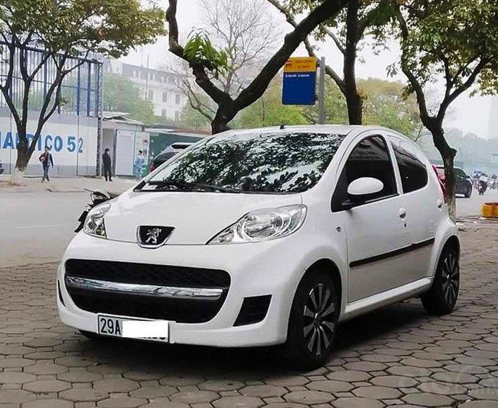 Bán xe Peugeot 107 sản xuất 2010, màu trắng, nhập khẩu nguyên chiếc0
