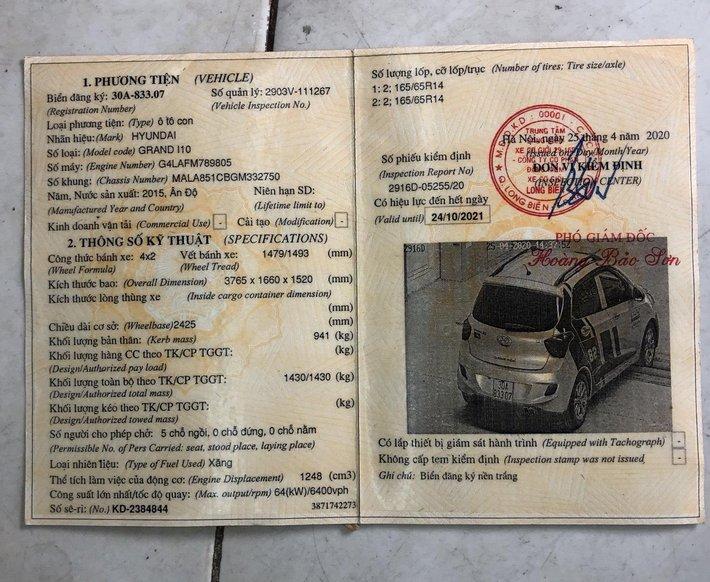 Chính chủ cần bán xe Hyundai Grand i10, màu trắng1