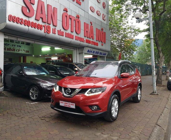 Sàn Ô Tô Hà Nội bán Nissan X trail 2.0 sản xuất 2017, lăn bánh năm 2018, xe màu đỏ, xe một chủ0