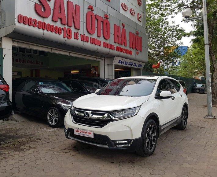 Sàn ô tô Hà Nội bán Honda CRV 1.5Turbo bản L đăng ký 2019 màu trắng, xe tư nhân chính chủ đi rất ít0