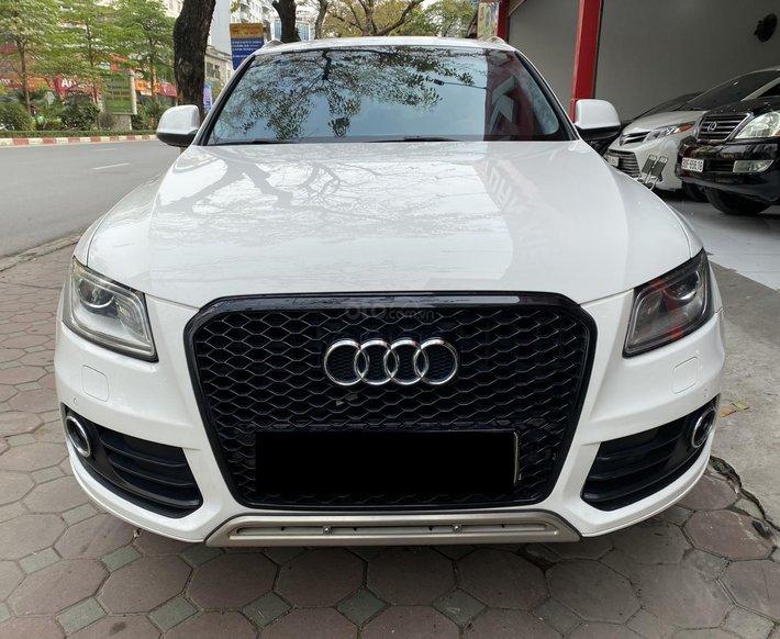 Bán Audi Q5 sx 2013 màu trắng, nội thất nâu cực đẹp0