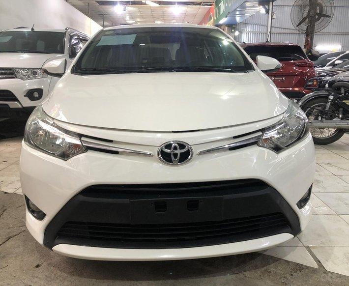 Xe Toyota Vios 1.5E 2017, màu trắng, nội thất kem, cực đẹp0