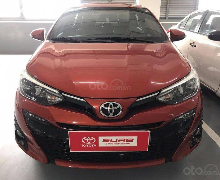 Bán Toyota Yaris 1.5G, năm sản xuất 2019, 625tr màu cam rực rỡ, gía tốt có hỗ trợ bank0
