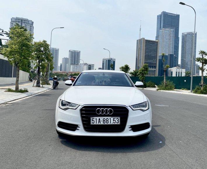 Bán Audi A6 sản xuất 2014 màu trắng siêu mới0