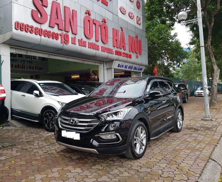 Sàn Ô Tô Hà Nội bán Hyundai Santafe bản 2.4AT máy xăng đặc biệt, màu đen, sản xuất năm 2017 hai cầu0