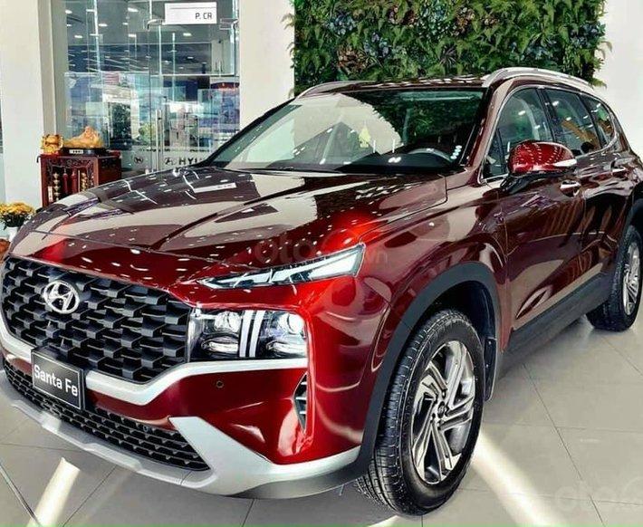Bán Hyundai Santa Fe sản xuất năm 2021, màu đỏ0
