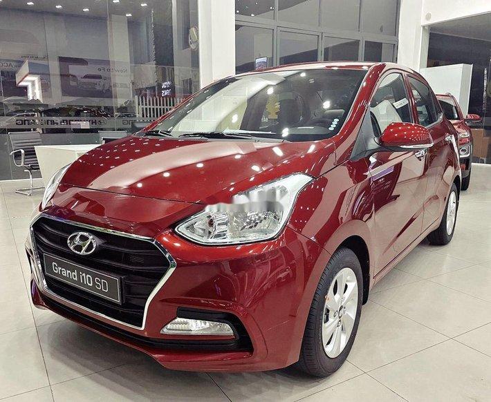 Bán Hyundai Grand i10 sản xuất năm 2021, màu đỏ, nhập khẩu, giá 392tr0