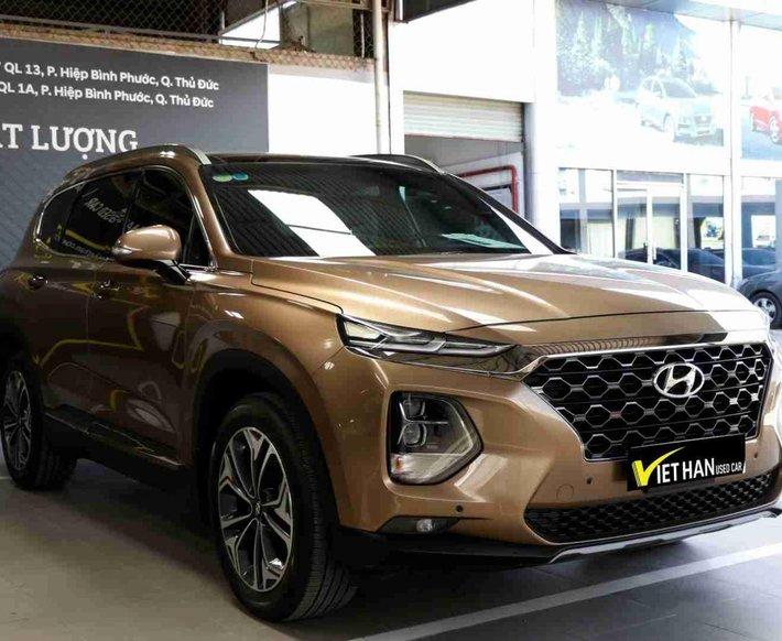 Bán Hyundai Santa Fe 2.4AT 2019 cao cấp, hỗ trợ 100% trước bạ0