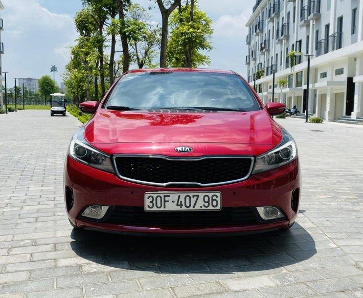 Bán Kia Cerato sản xuất 2018 đỏ vành xoắn bản cao cấp0