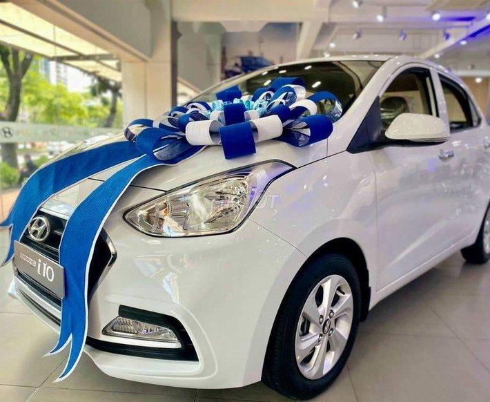 Bán ô tô Hyundai Grand i10 sản xuất 2021, màu trắng, giá chỉ 325 triệu0