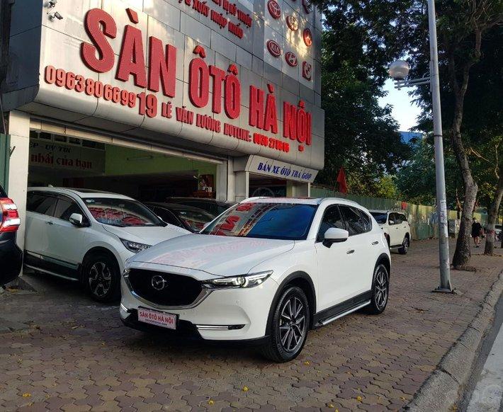 Bán Mazda CX5 2.5 SX 2018 màu trắng, xe TNCC một chủ từ đầu0