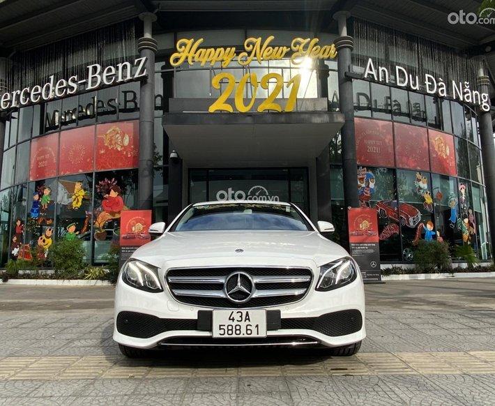 Mercedes-Benz E180 lướt chính hãng An Du màu trắng, trang bị option vô biên, siêu lướt, hỗ trợ 75% giá trị xe0