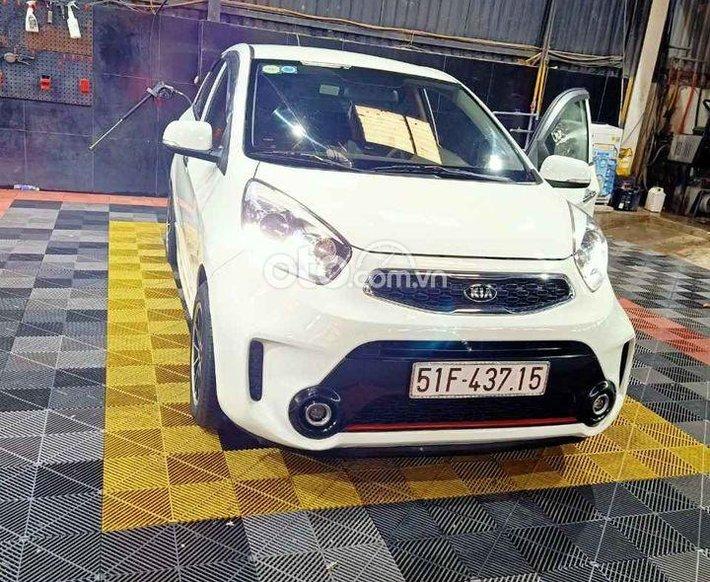 Bán Kia Morning năm sản xuất 2016, màu trắng số sàn, 245tr0